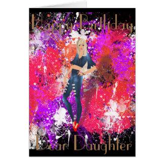 PINUP 2  DAUGHTER GREETING CARD