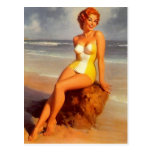 Pinup Bathing Beauty Postcard