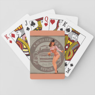 Pinup Car Playing Cards