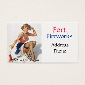 Pinup Firework Business Card