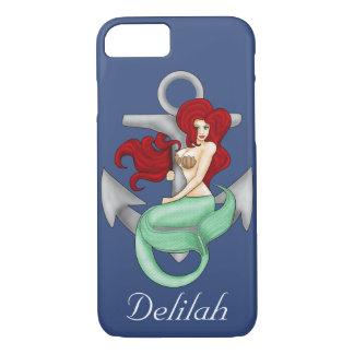 Pinup Girl, Anchor Mermaid Case-Mate iPhone Case