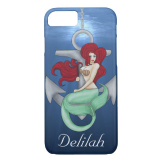 Pinup Girl, Anchor Mermaid Under the Ocean Case-Mate iPhone Case