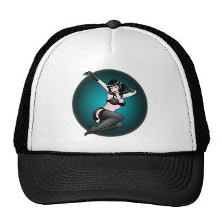 Pinup Girl Cap Retro 50 s 60 s Pinup Caps Trucker Hat