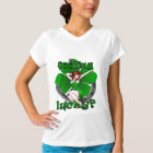 Pinup Girl Fitted T-shirt Lucky Ladies Irish Pinup