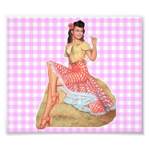 Pinup Girl Photo Print