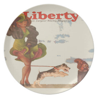 """Pinup Melamine Plate, """"Liberty"""" Plate"""