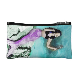 Pinup Mermaid Cosmetics Bags