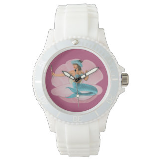 Pinup mermaid watch