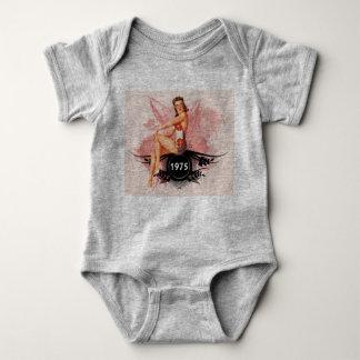Pinup pink baby bodysuit