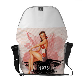 Pinup pink commuter bag