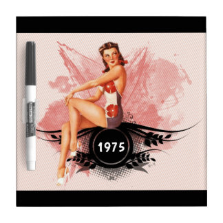 Pinup pink dry erase board