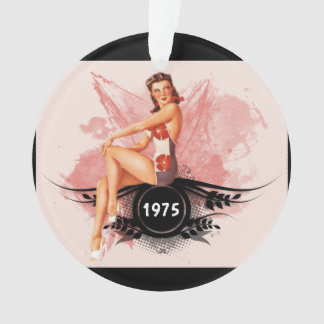 Pinup pink ornament