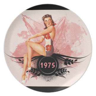 Pinup pink plate