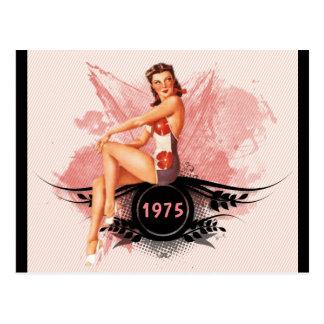 Pinup pink postcard