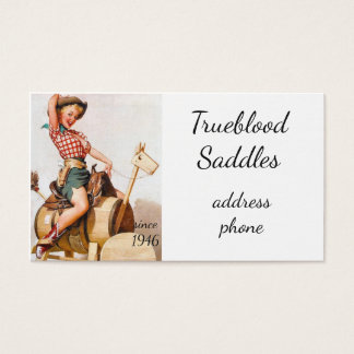 Pinup Saddle Business Card