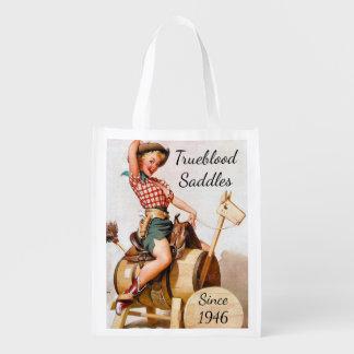 Pinup Saddle Reusable Grocery Bag