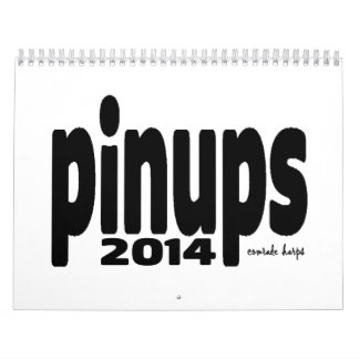 Pinups 2014 - a season creep calemdar wall calendars