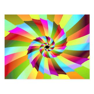 Pinwheel 6 Fine Fractal Art Postcard