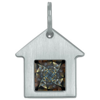 Pinwheel Abstract Art House Pet Name Tag