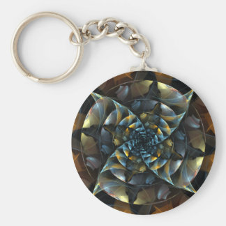 Pinwheel Abstract Art Keychain