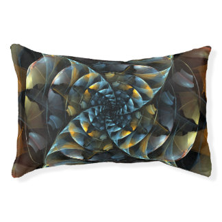 Pinwheel Abstract Art Pet Bed