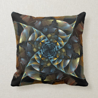 Pinwheel Abstract Art Throw Pillow