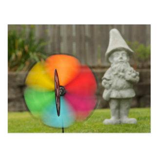 Pinwheel and Garden Gnome Post Card