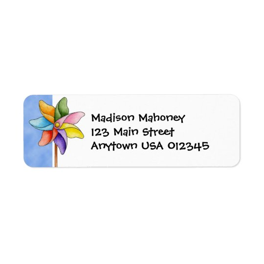 Pinwheel Avery Label Return Address Label