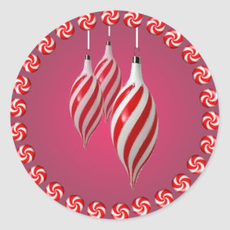 PINWHEEL CANDY & ORNAMENTS by SHARON SHARPE Classic Round Sticker