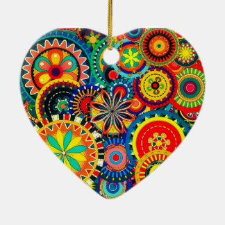 Pinwheel Celebration Heart Ornament