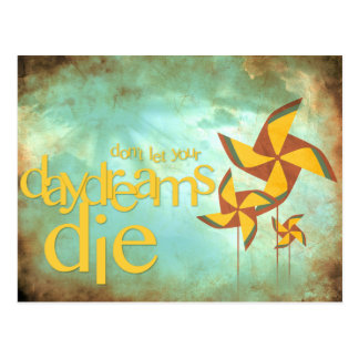 pinwheel daydreams postcard
