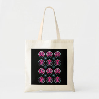Pinwheel Flower Tote Bag