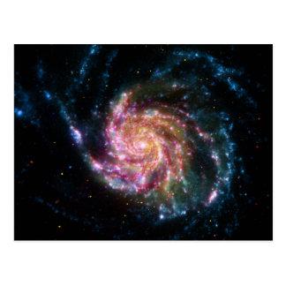Pinwheel Galaxy Spiral Space Postcard