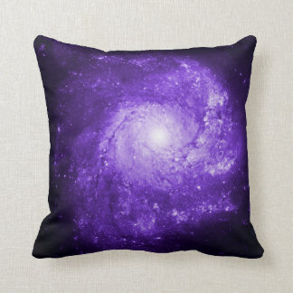 Pinwheel Galaxy Ultraviolet Throw Pillow