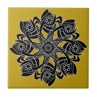 Pinwheel Geometric Artwork Design Tile
