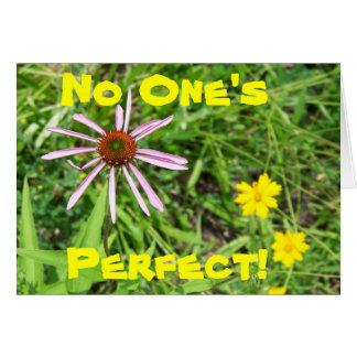 Pinwheel, No One's Perfect! Greeting Card