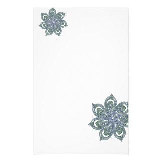 Pinwheel of Paisleys Blue Stationery