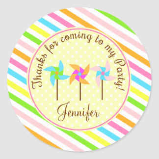 Pinwheel personalized 2inch favor tag