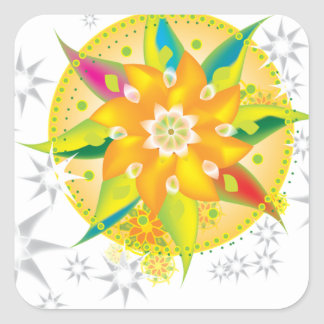 Pinwheel Square Sticker
