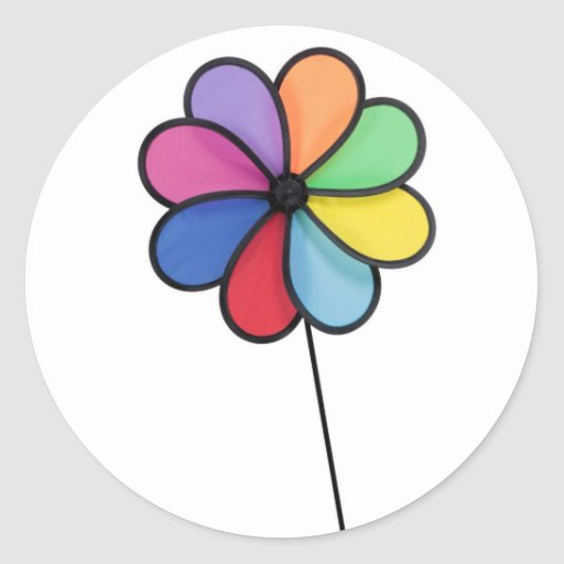 Pinwheel Round Stickers