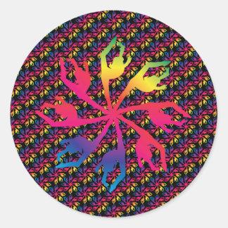Pinwheel Sticker Dancer