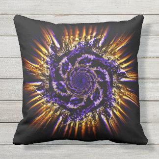 Pinwheel throw pillow. Fiery front, blue reverse Throw Pillow