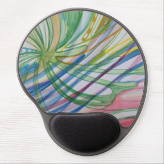 Pinwheel Watercolor Mouse Gel Mouse Pad