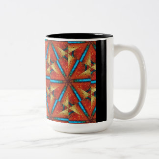 Pinwheels - African Trade Beads #1 Two-Tone Coffee Mug