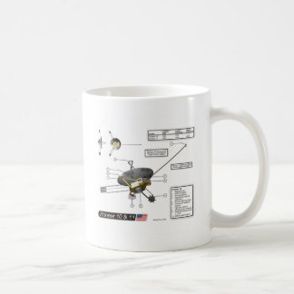 Pioneer 10 & 11 Illustration Coffee Mug