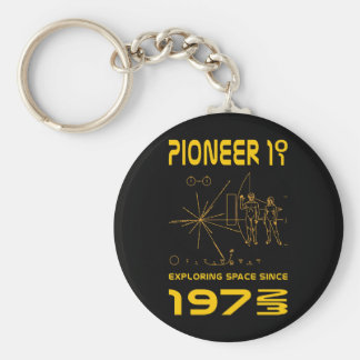 Pioneer 10 & 11 | Space 1972 & 1973 | gold Basic Round Button Keychain