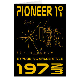 Pioneer 10 & 11 | Space 1972 & 1973 | gold Card