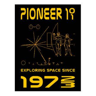 Pioneer 10 & 11 | Space 1972 & 1973 | gold Postcard