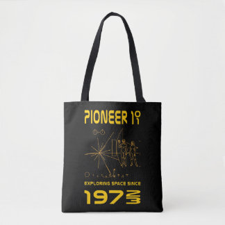 Pioneer 10 & 11 | Space 1972 & 1973 | gold Tote Bag