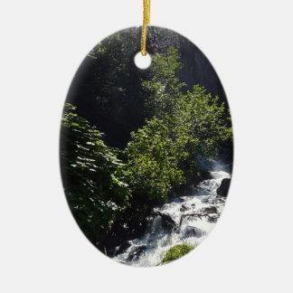 Pioneer Falls Butte Alaska Ceramic Ornament